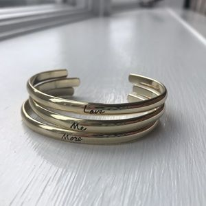 "Never been worn ""love me more"" bracelet set"